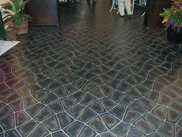 Commercial interior basalt tile