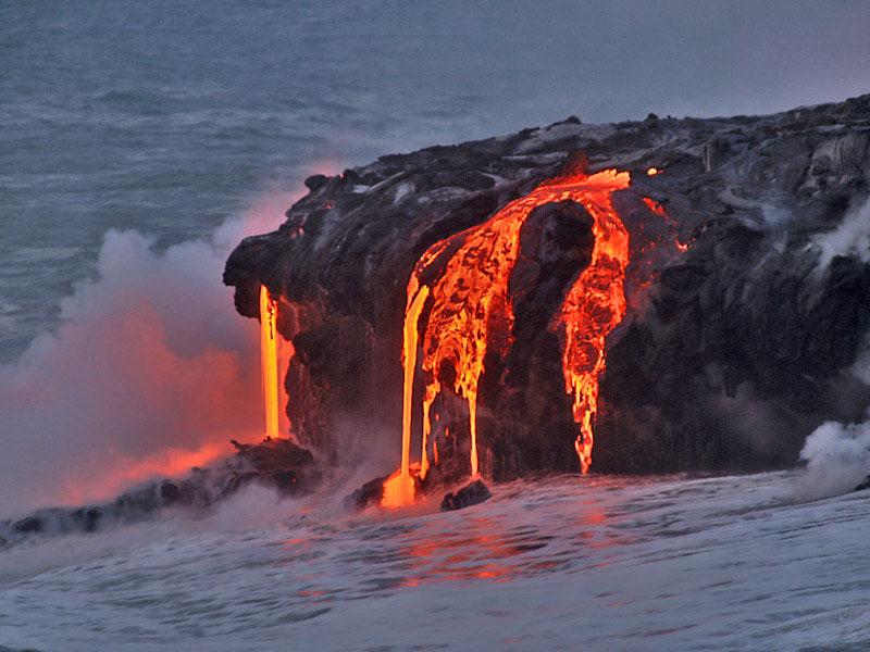 Molten Basalt Lava