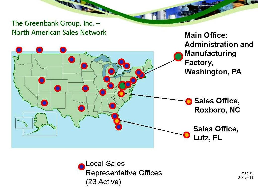 GGI North American Sales Network
