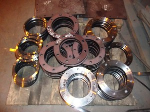 Custom made plate flanges